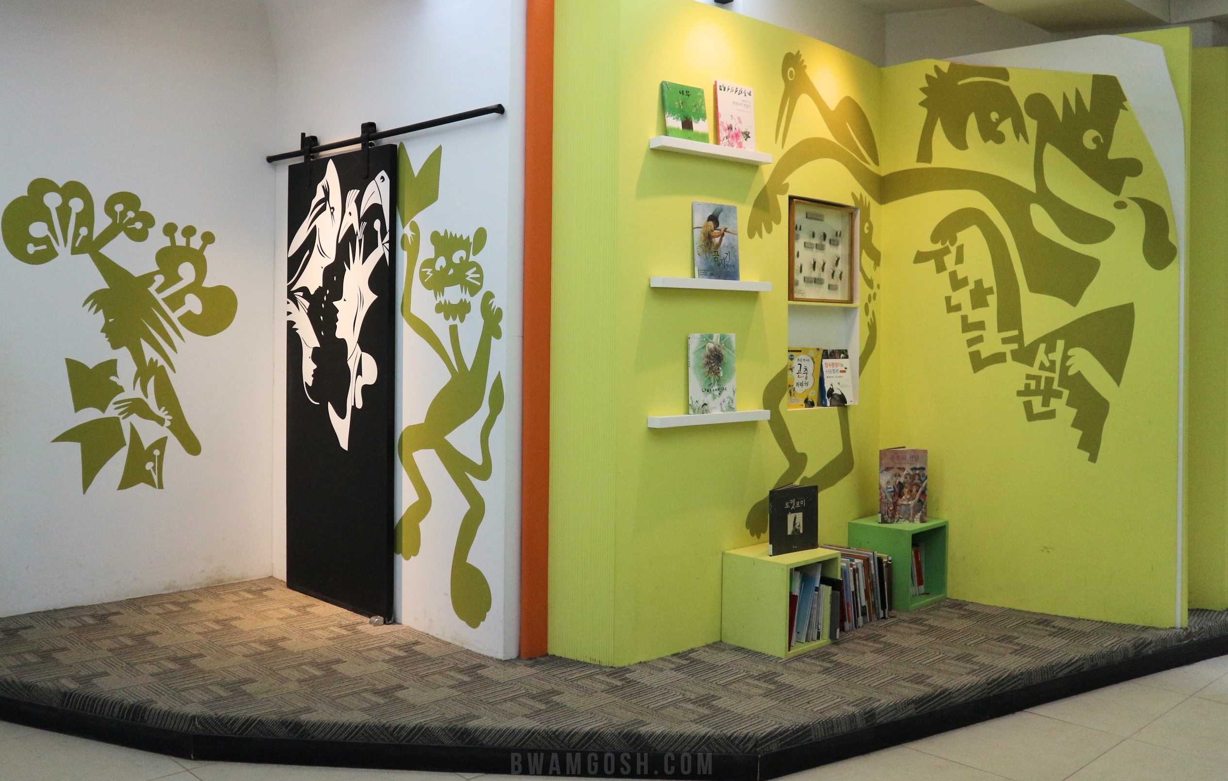 Picture Book Library wall painting