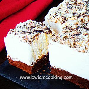Торт шоколадный «Брауни» с безе - Пошаговый рецепт с фото