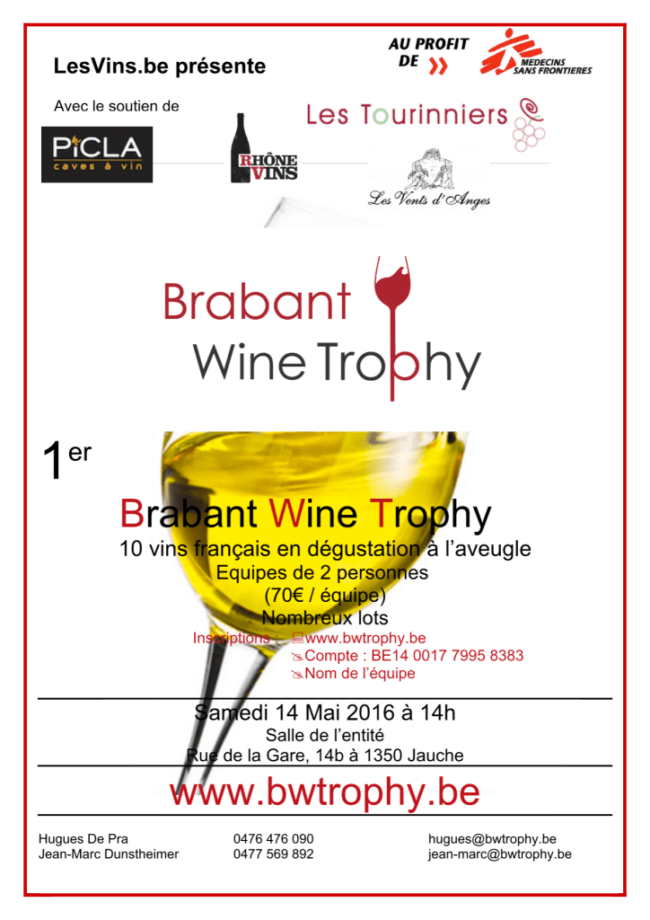 Affiche Brabant Wine Trophy 2016