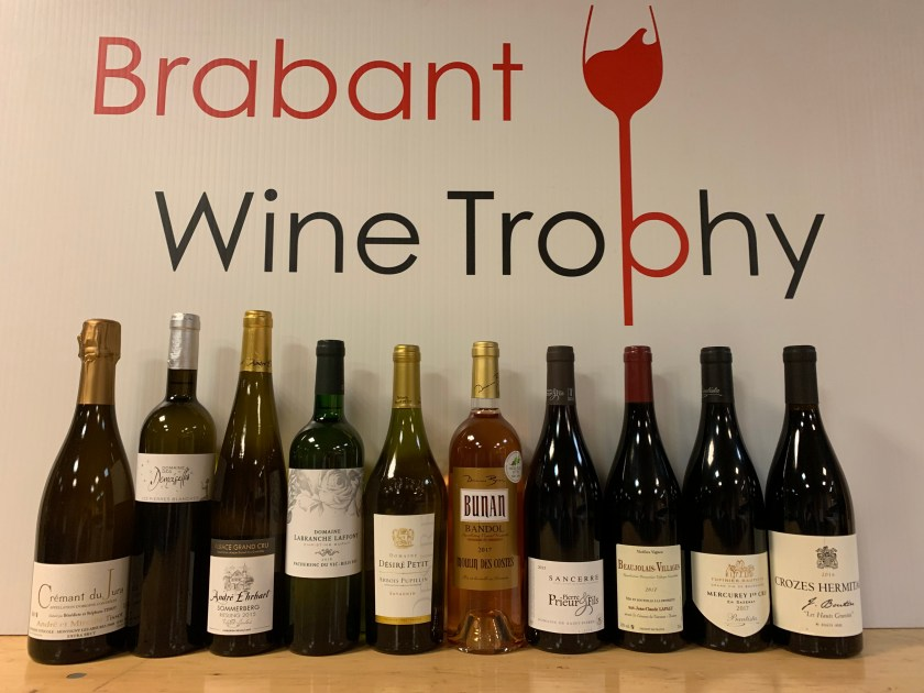Les 10 vins du Brabant Wine Trophy 2019