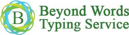 Beyond Words Typing Service