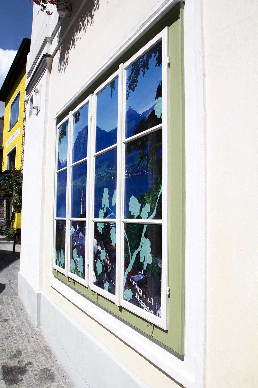 Fensterbeklebung