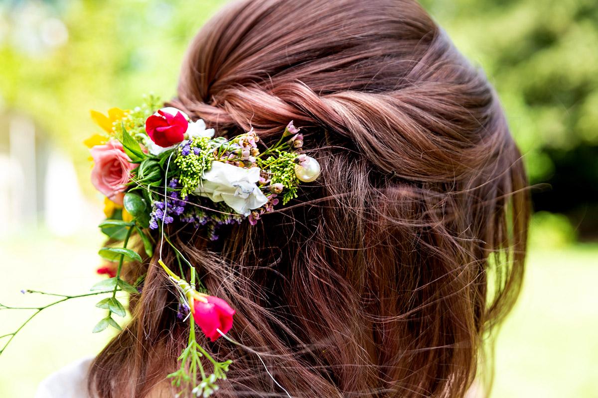 Haarschmuck der Braut