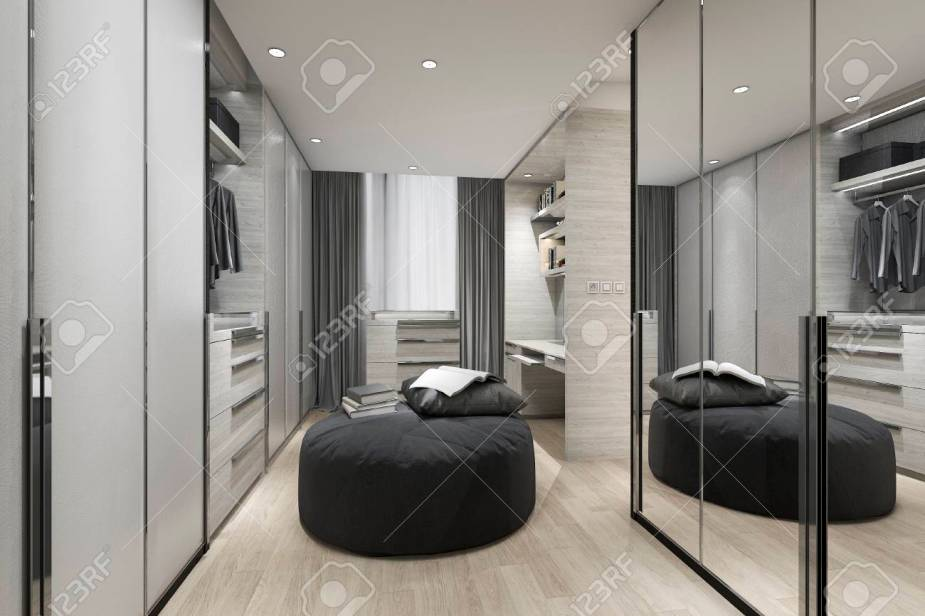 mirrored closet cabinets - an easy DIY to make your closet look bigger and more expensive. Mirrors are a great way to make a space loo chicer. easy diy home decor ideas