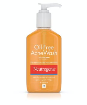 acne tip: neutrogena cleanser to get rid of acne and get clear skin fast