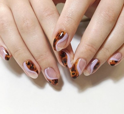 fall nail designs - tortoiseshell nails