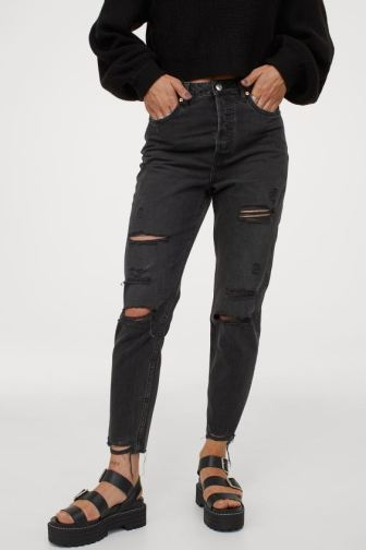 H&M ripped jeans $34.99