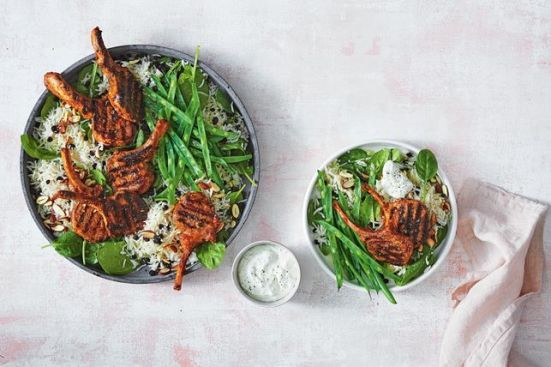 10 minute dinner recipes - barbecued tandoori with coconut rice