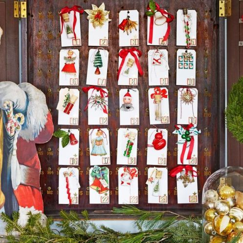 DIY christmas decorations - advent calendar