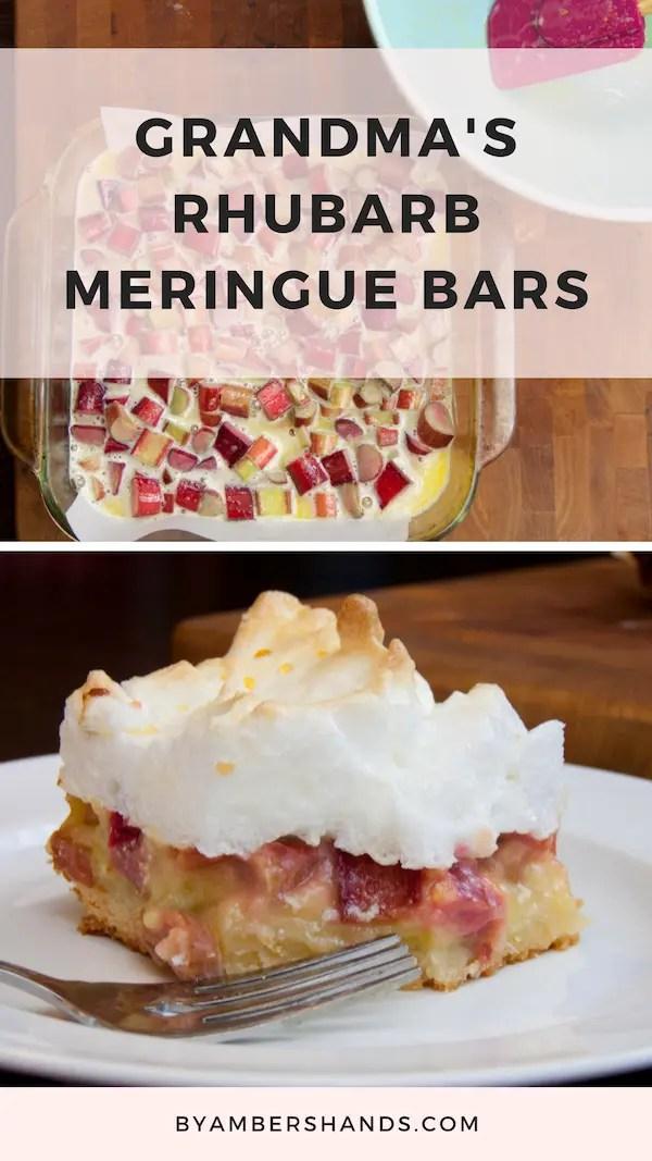 Rhubarb Meringue Bars -by amber's hands-