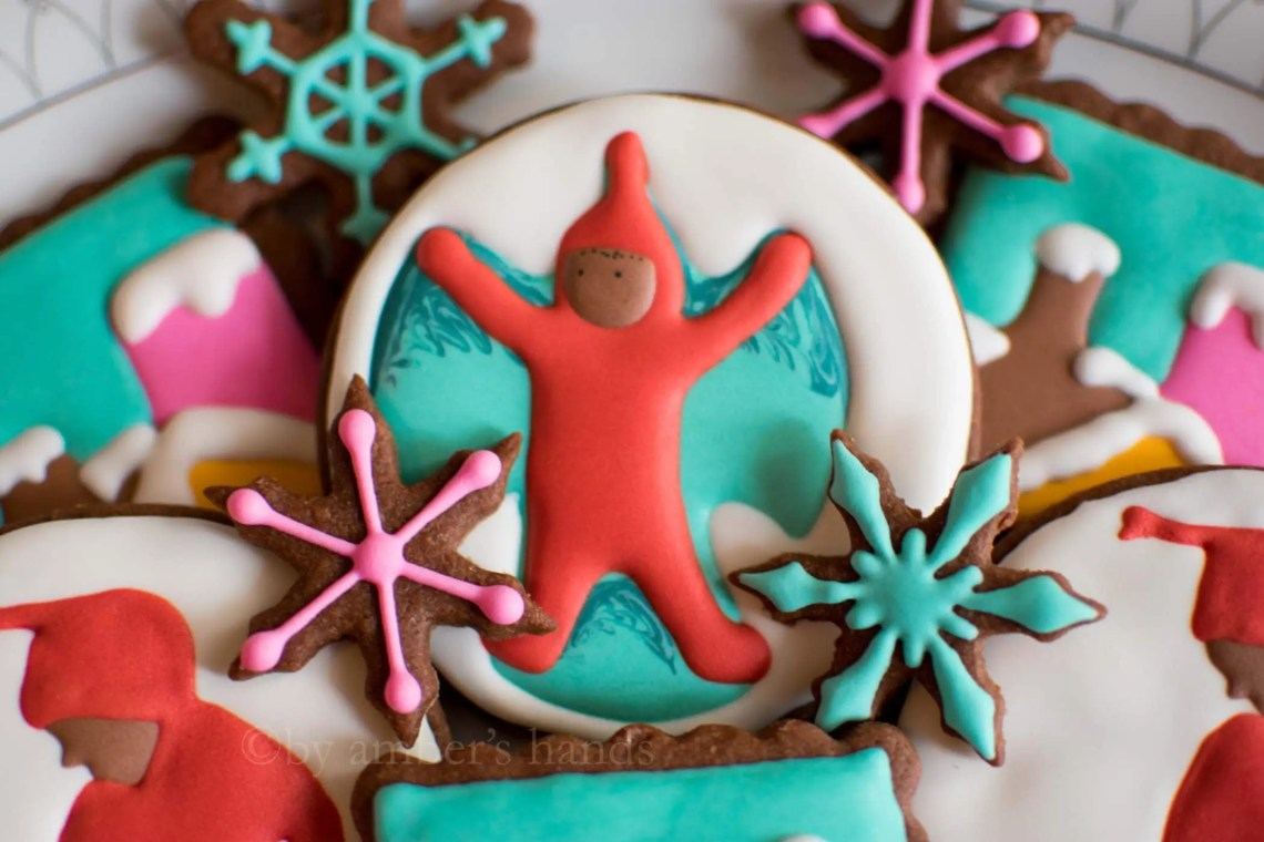 The Snowy Day Christmas Cookies -by amber's hands-