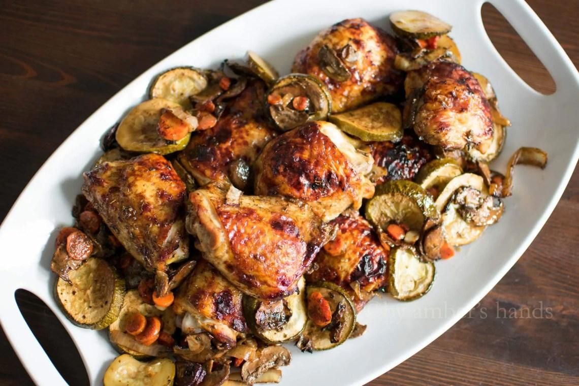 Sheet Pan Dinner : Balsamic Chicken