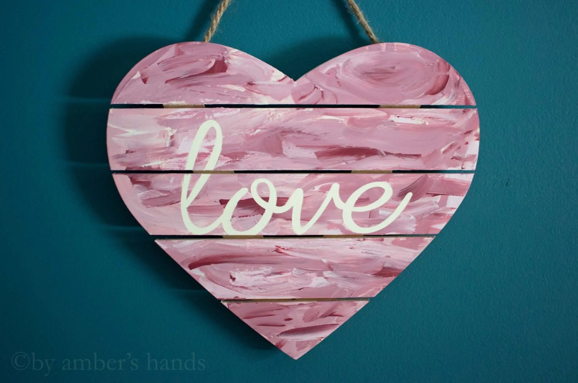 Sweet Heart Wall Art -by amber's hands-