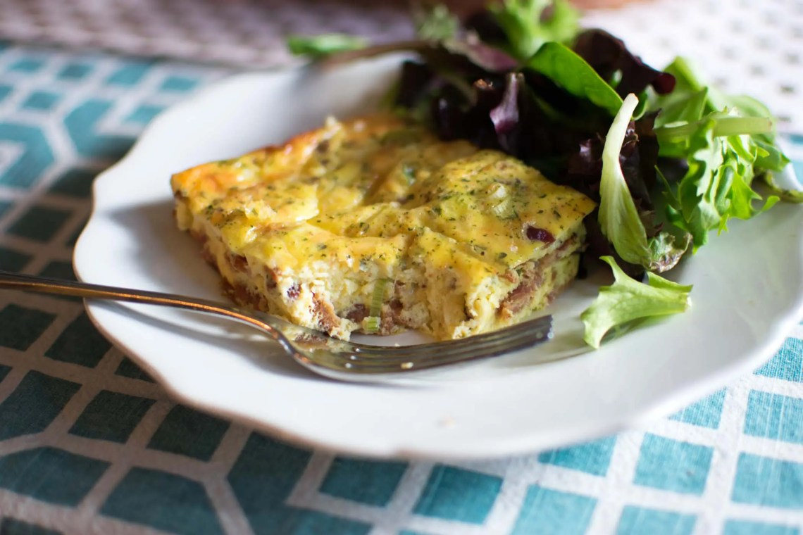 Easy Bacon Gruyere Egg Bake -by amber's hands-