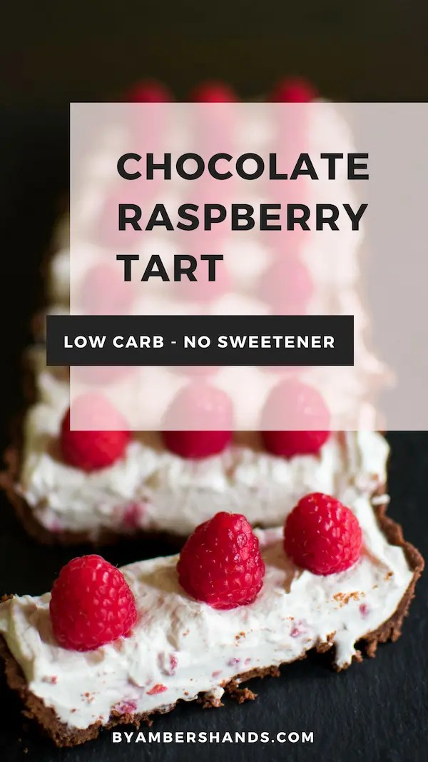 Chocolate Raspberry Tart -by amber's hands-