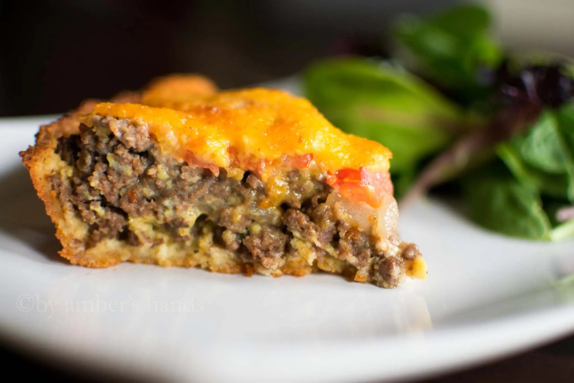 This easy keto cheeseburger pie is delicious and only has 4 grams of net carbs so you can enjoy it guilt-free!