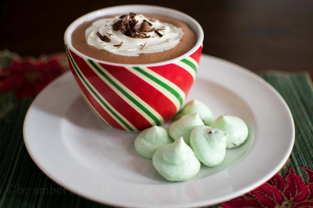 Keto Mint Chocolate Meringues -by amber's hands-