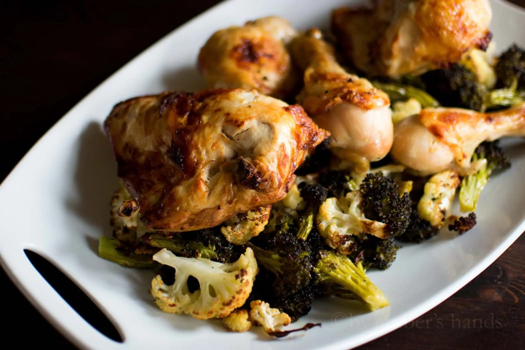 Roast Chicken and Veggie Sheet Pan Dinner -by amber's hands-
