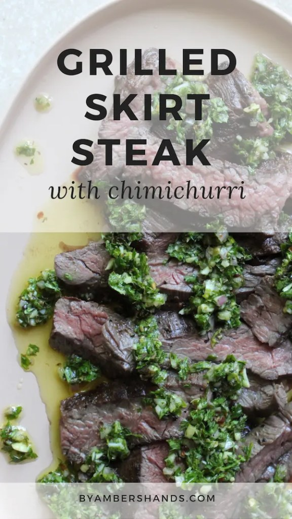 """Learn how to grill the perfect skirt steak and pair with chimichurri for an easy, delicious, low carb summer meal! #keto #lowcarb #grilling #skirtsteak #chimichurri #glutenfree #grainfree #dinner"""""""