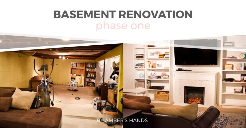 Basement Renovation Phase One -by amber's hands-