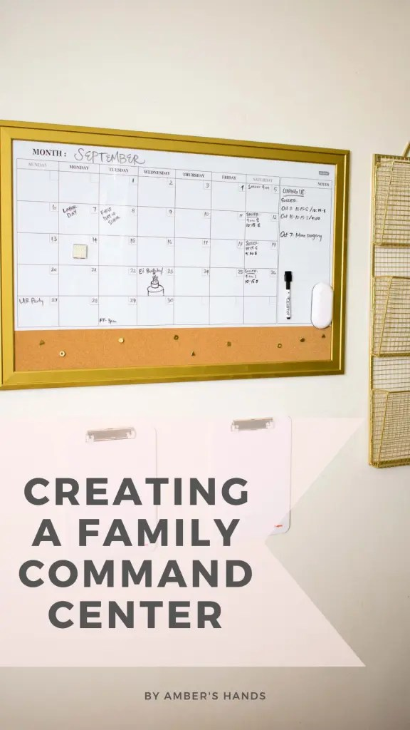 Creating a spot to keep track of all our schedules and important papers has made a huge difference in the state of my mind and house! So much less for me to try to keep in my brain at all times! #commandcenter #organization #calendar #files #papers #household #schedules #baskets #clipboards