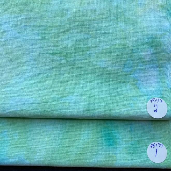 håndfarvet bomuldsstof silkegarn