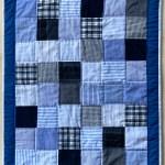 patchwork babytæppe genbrug
