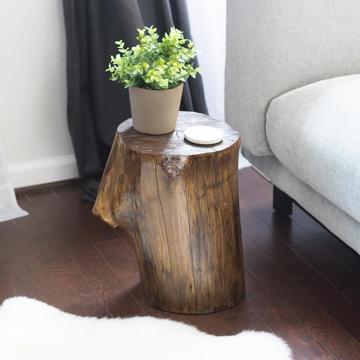 tree stump furniture for sale trunk coffee table australia side canada make final