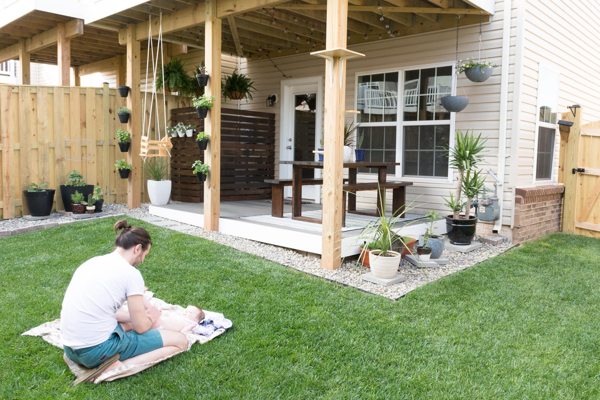 My Tiny Backyard // Modern Design Ideas for a Small Backyard on Modern Landscaping Ideas For Small Backyards  id=56746