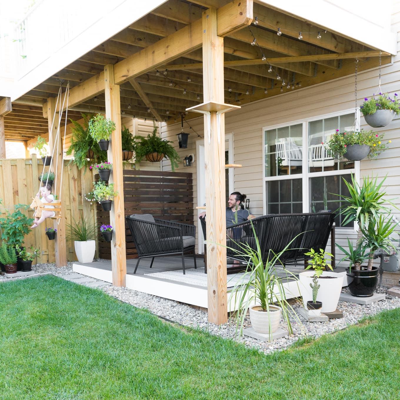 Tiny Backyard Ideas & An Update on My Tiny Backyard & Garden on Small Back Deck Decorating Ideas id=77535