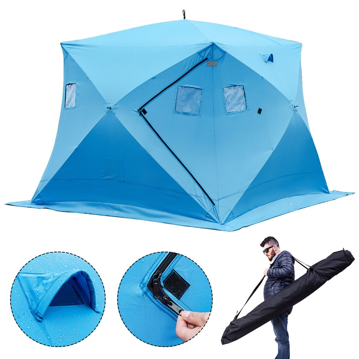Waterproof Pop-up 4-person Ice Shelter Fishing Tent  sc 1 st  ByChoiceProducts & Waterproof Pop-up 4-person Ice Shelter Fishing Tent u2013 By Choice ...