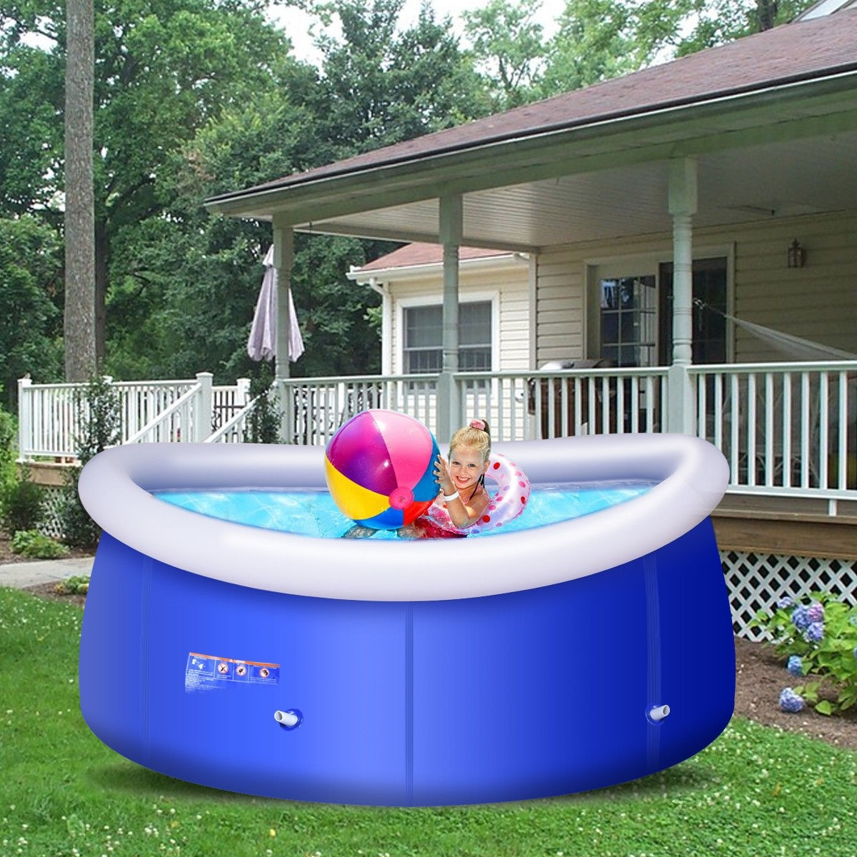 8 ft x 30 inch Easy-Set Giant Inflatable above Ground Swimming