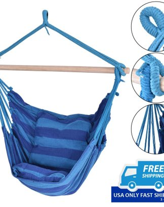 4 Color Outdoor Deluxe Hammock Rope Chair