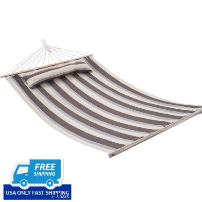 "75"" x 55"" Double Size Heavy Duty Hammock-Cotton New"
