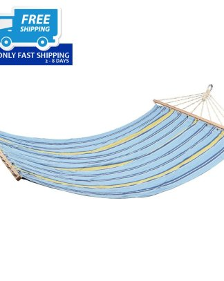 """78"""" x 55"""" Double Size Polyester Fabric Hammock"""