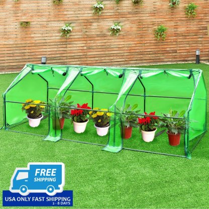 "95"" x 35"" x 35"" Portable Flower Garden Greenhouse"