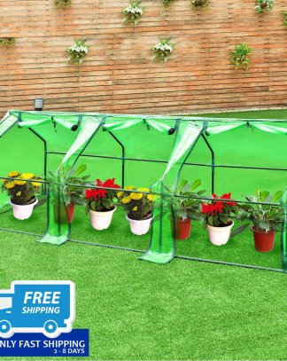 "95"" x 35"" x 35"" Portable Flower Garden Greenhouse"