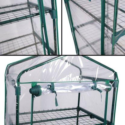 Outdoor Portable Mini 4 Shelves Greenhouse