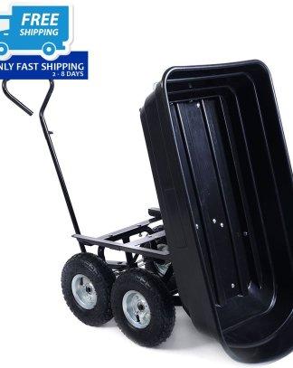 650 lbs Garden Heavy Duty Dump Cart Dumper