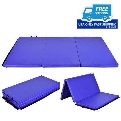6' x 4' Tri-Fold Gymnastics Mat Thick Folding Panel