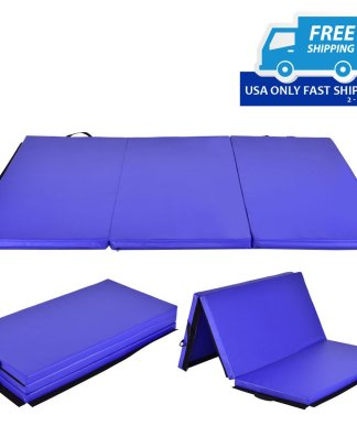 6' x 4' Tri-Fold Gymnastics Mat Thick Folding Panel