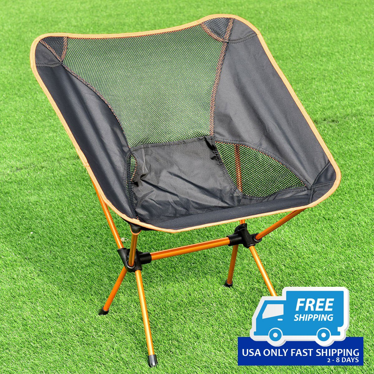 Groovy Aluminum Hiking Camping Chair Fishing Seat Stool Outdoor Folding Portable W Bag Cjindustries Chair Design For Home Cjindustriesco
