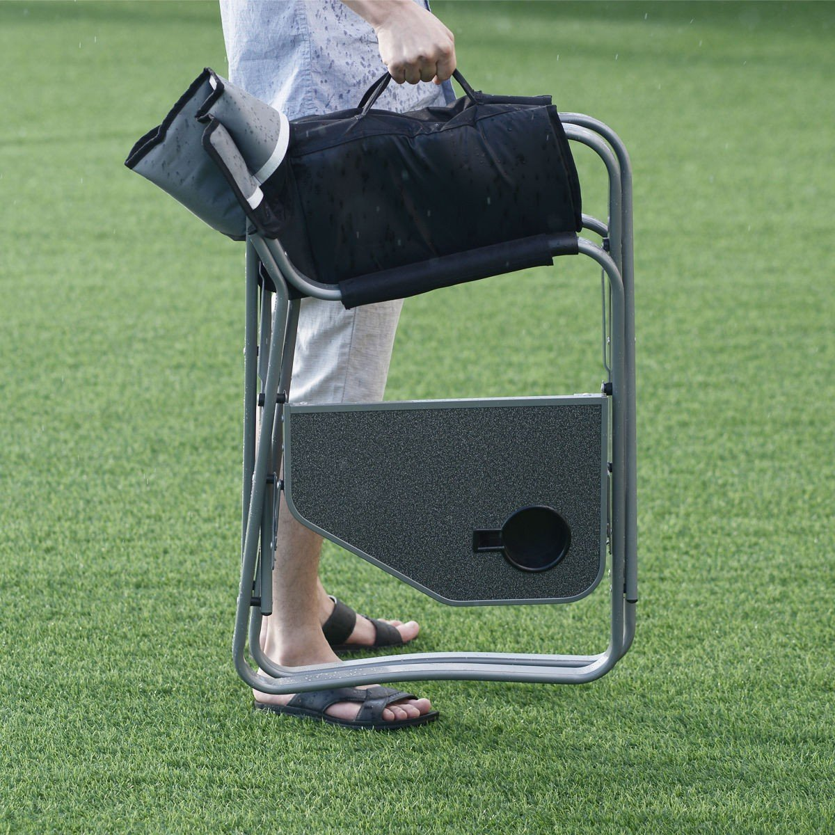 Folding Outdoor Camping Directoru0027s Chair With Cup Holder