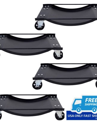 New HD 4 PCS Set Tire Wheel Dollies Dolly Vehicle Car Auto Repair Moving Diamond