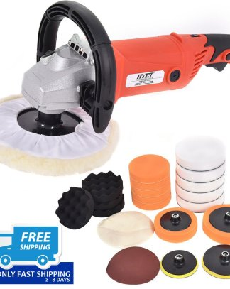 """7"""" Car Polisher 6 Variable Speed Buffer Waxer Sander Detail Boat w/Accessories"""