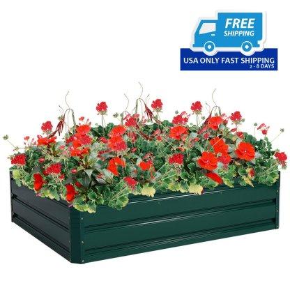 "47.2""x35.4"" Patio Raised Garden Bed Vegetable Flower Planter"