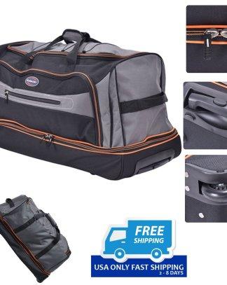 """30"""" Drop Bottom Rolling Wheeled Duffel Bag Luggage"""