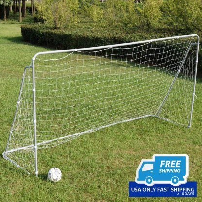 12' x 6' Soccer Goal W/Net Velcro Straps, Anchor Ball Training Sets