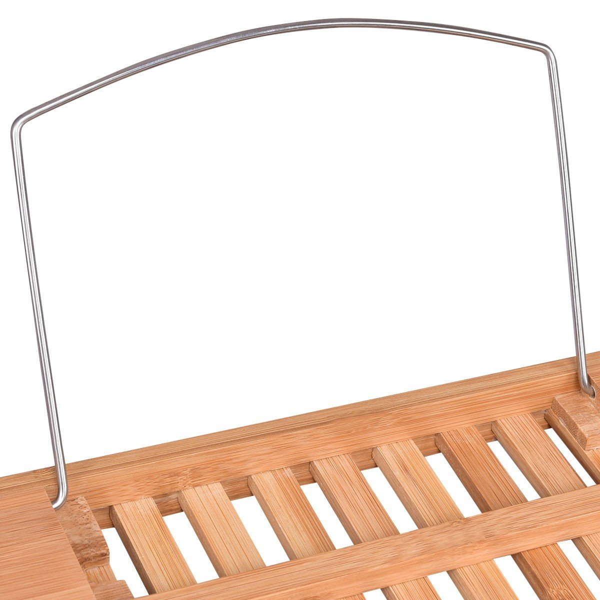 Adjustable Perforated Bamboo Bathtub Tray with Book Holder – By ...