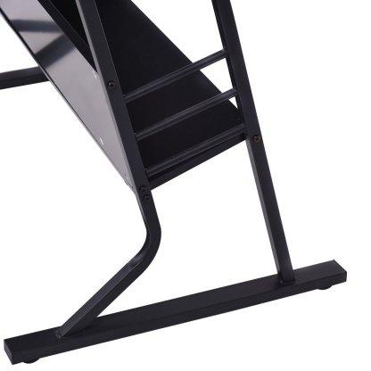 Black Adjustable Drafting Table w/ Stool & Side Drawers